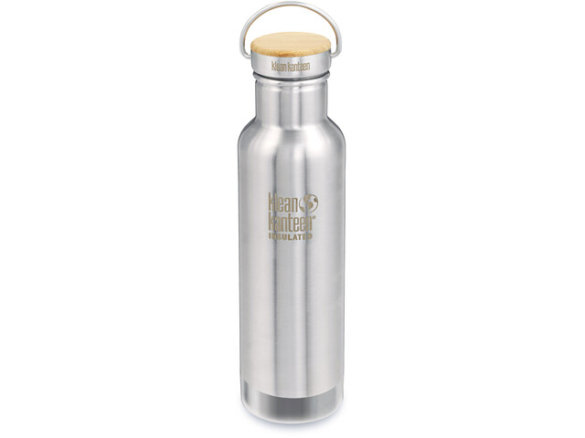 Klean Kanteen Reflect Vacuum Insulated Bottle w. Unibody Bamboo Cap 592ml brushed stainless